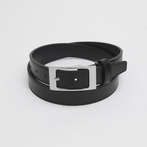 メンズベルト 黒系 110cm 牛革 ピンバックル式 (サイズ調節可能)|shirt
