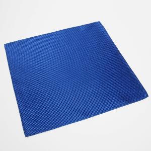 ポケットチーフ / ビジネス / フォーマル / 絹100% ブルー バスケット織柄|shirt
