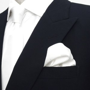 ポケットチーフ / ビジネス / フォーマル / ホワイト 4面異柄|shirt