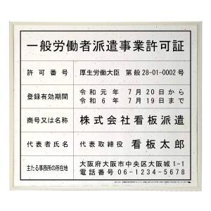 労働者派遣事業許可証スタンダードおりひめ/法定看板 標識 表示看板 安値 事務所用