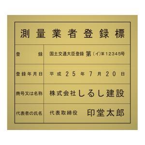 測量業者登録標ゴールド調パネルのみ/法定看板 標識 表示看板 安値 事務所用 shirushidou