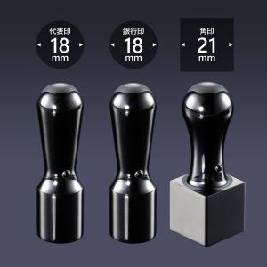 会社印 ミラーチタン(ブラック) 3本Fセット  /法人 会社設立 本 実印 銀行印 角印 送料無料 法人印鑑|shirushidou