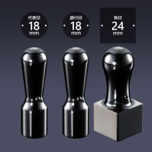 会社印 ミラーチタン(ブラック) 3本F24セット  /法人 会社設立 本 実印 銀行印 角印 送料無料 法人印鑑|shirushidou