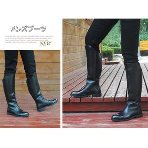 素材:PU合革 サイズ:38(24cm)〜45(27.5cm) 色:ブラック   格好良くて革ブーツ...