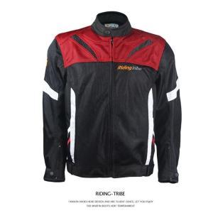 RidingTribe バイクジャケット ライダースジャケット プロテクター レーシング ライディン...