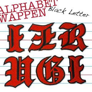総刺繍アルファベット(ブラックレター・縦60mm)オーダー1文字アイロン接着ワッペン|shishuatelier