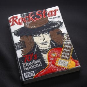 刺繍ブックカバーA6サイズ(Rock Star)|shishuatelier