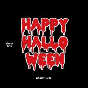 HAPPY HALLO WEEN ワッペン|総刺繍|横8×縦10cm ハロウィン オーナメント|shishuatelier