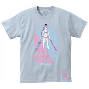 でばうさぎ ERECTRIC GIRL 思春期マーブルTシャツ|shisyunki