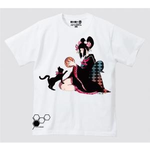 禿ーKAMURO-猫と鞠 思春期マーブルTシャツ|shisyunki