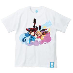 くるみつ Flying bunny girl 思春期マーブルTシャツ|shisyunki
