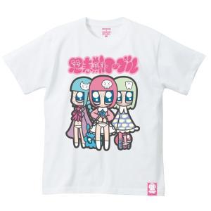 山本シゲトモ Three girls Monster Girl 思春期マーブルTシャツ|shisyunki