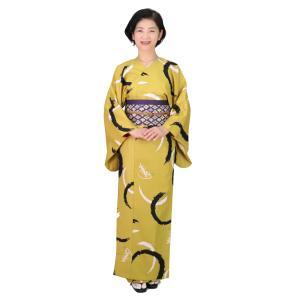 着物 3点セット 簡単 着付け不要 着崩れしない 衿なし 袷 仕立て上がり 輪紋 shitateyajingoro