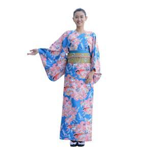着物 3点セット 簡単 着付け不要 着崩れしない 衿なし 袷 仕立て上がり 百花繚乱 shitateyajingoro