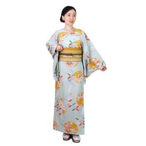 着物 3点セット 簡単 着付け不要 着崩れしない 衿なし 袷 仕立て上がり 花雪輪 shitateyajingoro