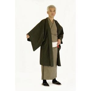着物 6点セット 簡単 着付け不要 着崩れしない 紳士 アンサンブル 仕立て上がり 金茶 shitateyajingoro