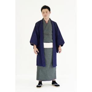 着物 6点セット 簡単 着付け不要 着崩れしない 紳士 アンサンブル 仕立て上がり 紫紺 shitateyajingoro