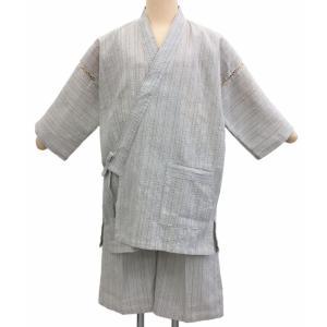 甚平 男 メンズ 夏用 着心地 バツグン シンプル おしゃれ 白系 縞 shitateyajingoro