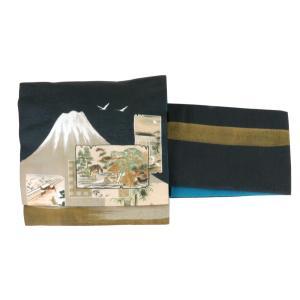 【日本製】オリジナルデザイン京袋お太鼓帯 造り帯 S/M/Lサイズ[No9 富士山] shitateyajingoro