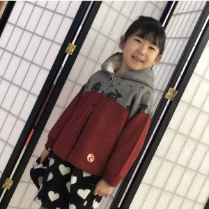 甚五郎オリジナル 子供用 裏ボア ニットコート shitateyajingoro