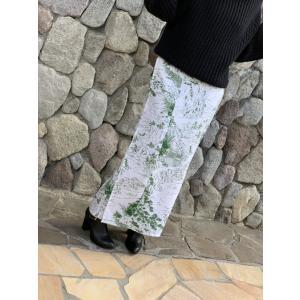 今だけ激安!和柄 巻きスカート ロングタイプ 花柄 和風 ラップスカート 山水 緑 shitateyajingoro