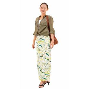 今だけ激安!和柄 巻きスカート ロングタイプ 花柄 和風 ラップスカート さくらこ 黄色 shitateyajingoro