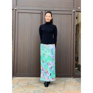 今だけ激安!和柄 巻きスカート ロングタイプ 花柄 和風 ラップスカート 祝鶴 薄緑色 shitateyajingoro