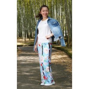 今だけ激安!和柄 巻きスカート ロングタイプ 花柄 和風 ラップスカート 彩ぼたん 薄青色 shitateyajingoro