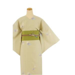 着物 3点セット 日本製 簡単 着付け不要 着崩れしない 衿なし 小紋 袷 仕立て上がり Mサイズ|shitateyajingoro