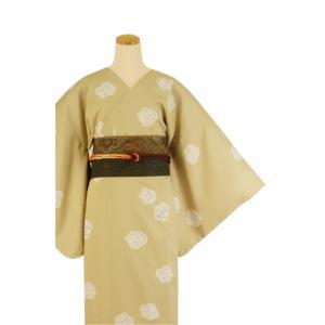 着物 3点セット 日本製 簡単 着付け不要 着崩れしない 衿なし 小紋 袷 仕立て上がり MTサイズ|shitateyajingoro