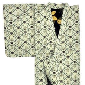 【日本製】(衿付)高級着物 小紋 簡単な半衿プレゼント!☆Sサイズ 着付け小物不要![A007]|shitateyajingoro