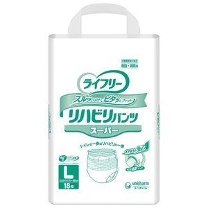 ライフリーリハビリパンツ スーパー L18枚×4袋入|shiwa-awase
