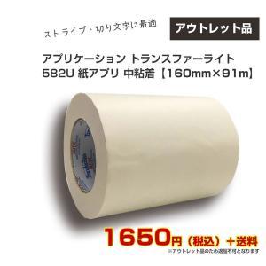 アウトレット アプリケーション トランスファーライト 582U 紙アプリ 中粘着 160mm×91m|shiza-e