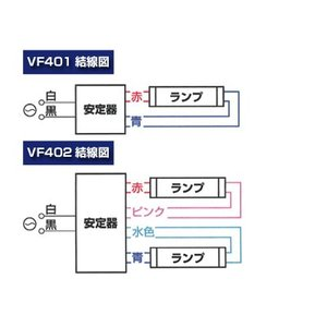 エヴァレイ蛍光灯電子安定器 VF402 40W 2灯用/蛍光灯部品 LED交換 照明 省エネ|shiza-e|03