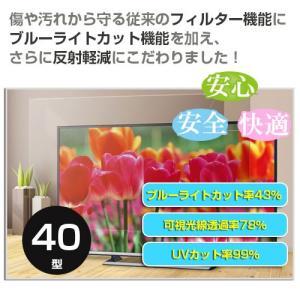 ブルーライトカット テレビフィルター 40型 EAV-566-40 倉庫(L)直送品 テレビガード TVガード TVフィルター|shiza-e