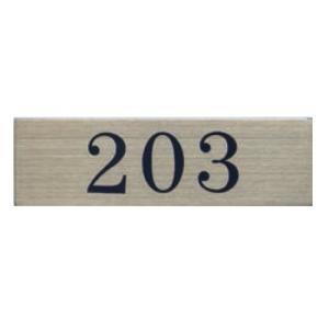 ステンレスプレート ST-A 007 粘着テープ付 W100mm×H30mm HCP ルームナンバー 203 ステンレスプレート 倉庫(H)直送品 shiza-e