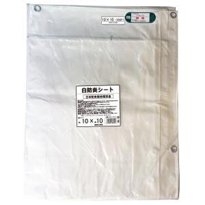 10×10 IM白防炎シート ハトメピッチ50cm FR-1010