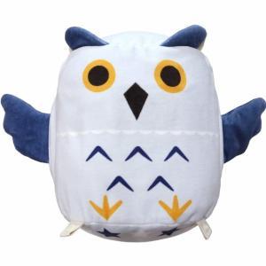 つなげてZOOクッション フクロウ 日本製 パイル 抱き枕 動物  ハンドインクッション