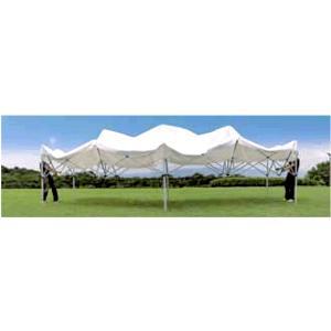 《代引不可・法人様宛対象》かんたんテント(キングサイズ) KA/10W 3.6m×5.4m (スチール&アルミ複合フレーム)|shizaiyasan
