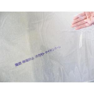 オカモト防炎帯電透明ビニール  オカモトタイデンオーム  0.1mm×183cm×50m巻|shizaiyasan