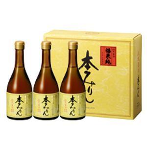 福来純 伝統製法熟成本みりん(500ml×3本入) 白扇酒造 数量限定 ギフト箱入 12月新商品|shizenkan