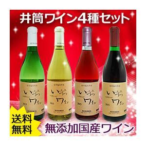 国産無添加いづつワイン4種セット(赤甘・ロゼ・白甘・白辛)(各720ml) 井筒ワイン 2020年11月下旬より発送予定|shizenkan