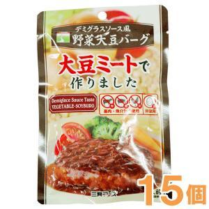デミグラスソース風野菜大豆バーグ(100g) 15個セット 三育フーズ まとめ買い|shizenkan