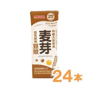 有機大豆使用 麦芽豆ジャン(200ml) 24本セット マルサン shizenkan