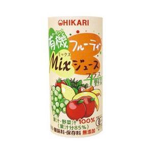 有機フルーティーMixジュース+野菜(195g) ヒカリ|shizenkan