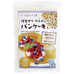 北海道産大豆100%使用。クセのないやさしい甘みです。 グルテンフリーパンケーキが簡単に作れます。 ...