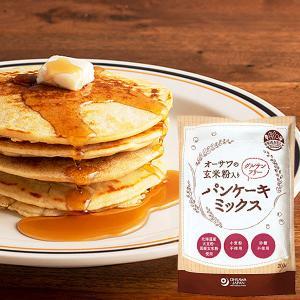 オーサワの玄米粉入りグルテンフリーパンケーキミックス(200g) オーサワジャパン 12月新商品|shizenkan