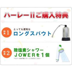 浄水器ハーレーII(正規輸入品) 除塩素シャワーとロングスパウト(25cm)をプレゼント! RHS|shizenkan|03