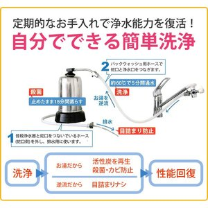 浄水器ハーレーII(正規輸入品) 除塩素シャワーとロングスパウト(25cm)をプレゼント! RHS|shizenkan|08