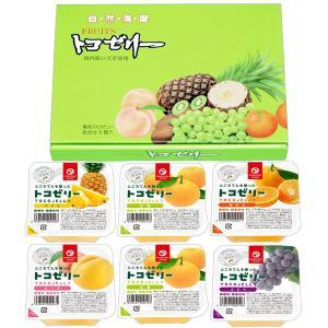 フルーツトコゼリー(130g) 6個化粧箱入り(みかん2個、パイン2個、もも2個) マルヤス shizenkan